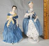 2 Royal Doulton Lady Figurines- Masquerade HN 2251, Adrienne HN2304