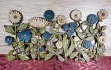 1966 Mid Century Syroco Flower Wall Hanging