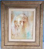 Surrealist David Phillip Anderson 1929-1996 Oil On Board Mystic Shaman Portrait 1975 Oil on Board