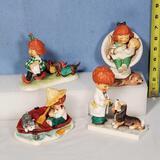 4 Goebel Charlot Bij Red Heads Figurines