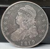 1819 US Capped Bust Silver Half Dollar