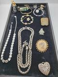 Tray of Costume Jewelry incl. Vintage
