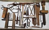 Box Lot Of Primitive Tools