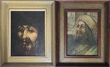 2 Juan Ricardo American, 20th Century Oil on Board Portraits