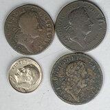 3 1723 Woods Hibernia Ireland Colonial 1/2 Pennies
