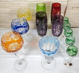 13 Cut to Clear Crystal Stemware