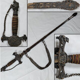 Knights of Pythaes Fraternal Sword and Scabbard with Chain Handguard