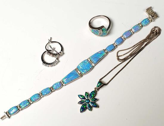 Opal & Sterling Silver Jewelry