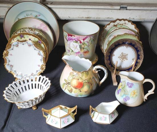 15 Pcs Hand Painted Porcelains