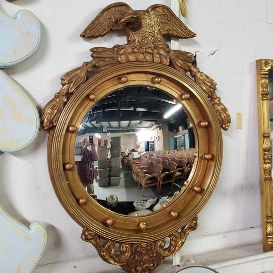 Federal Inspired Eagle Framed Convex Glass Mirror
