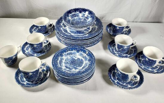 34 Pcs. English Country Inns China by Grindley