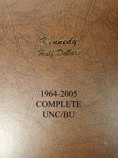 Kennedy BU Proof and UNC Half Dollar Album (1964-2005-D Complete) - 76 coins