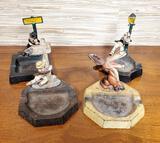 4 Wilton Cast Iron Figural 1930s Ash Trays