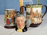 3 Royal Doulton Jugs & Cups