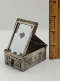 Antique Chinese .840 Silver Miniature Makeup Box