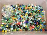 Tub of Glass Marbles