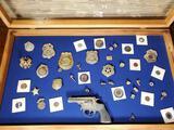 Vintage Toy Cap Gun, Badges, Coins, & Pins