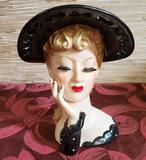 Vintage Napco Lady Head Vase