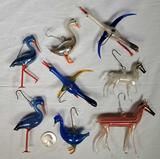 Christmas German Mercury Glass Mid Century Figural Ornaments