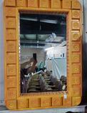 Avner Zabari Artist Unsigned Hand Painted Mirror