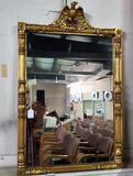 Gold Leaf Eagle Crest Mirror