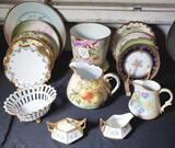 15 Pcs Hand Painted Porcelains