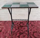 Tile Top Wrought Iron Table