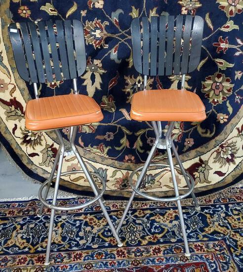 Mid Century Modern Bar Stools Comfort Lines Arthur Umanoff Style Vintage