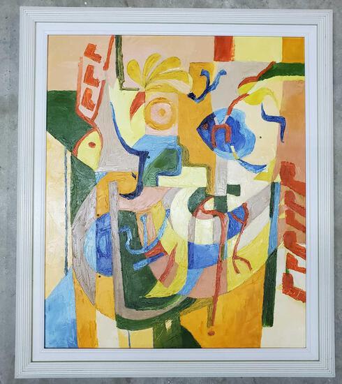 Phyllis Trager Hyman (1936-2011) Acrylic On Canvas 2001