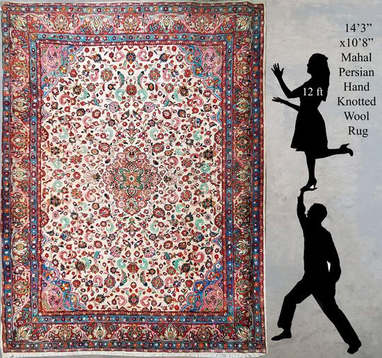 "172""x130"" Persian Mahal Multi Color Hand Woven Wool Rug"