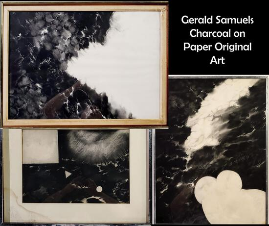 Gerald Samuels (1927 - 2004) New York, 3-Vintage Abstract Expressionist Paintings