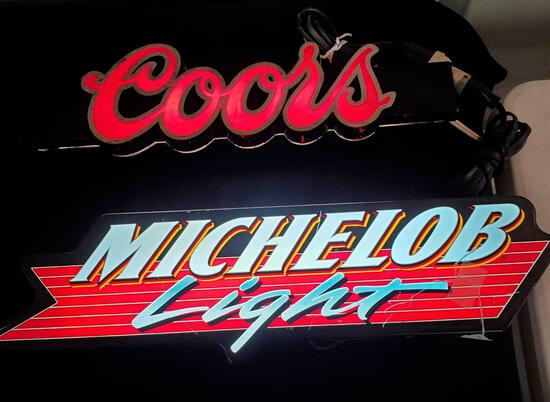 Beer Advertising Lights -Coors & Michelob Light