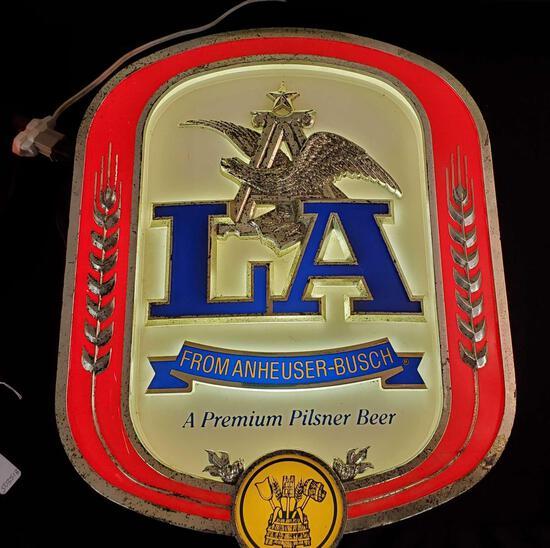 Anheuser-Busch LA Pilsner Beer Light
