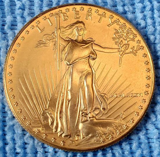 1 oz $50 Gold American Eagle High MS Grade Coin 1986