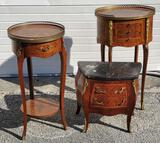 3 Petite Wood Accent Tables