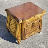 Italian Solid Wood Gold Gilt End Table