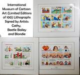 Limited Edition Signed Comic Strip Panels of Blondie, Beetle Bailey and Cathy