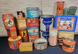 Collection of Vintage Tins
