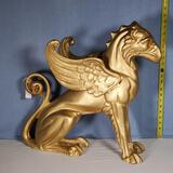 Golden Griffin / Eagle Lion Aluminum Statue