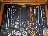 Case Lot of Victorian to 1940's Jewelry