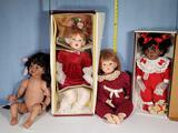 4 Fayzah Spanos Collectible Precious Heirloom Dolls