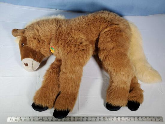 "36"" Steiff Plush Horse/ Pony Stuffed Animal"