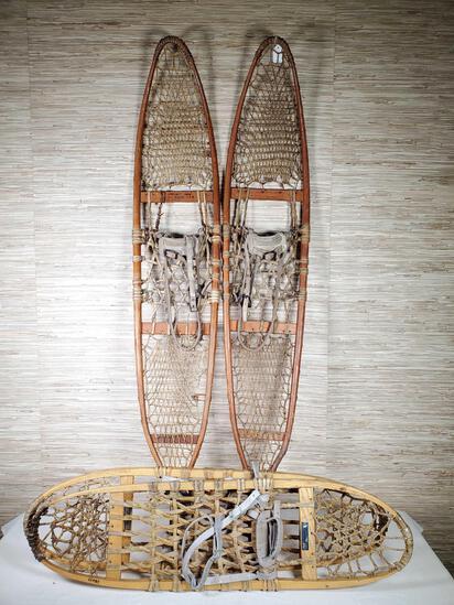 2 Pair Vintage Snowshoes