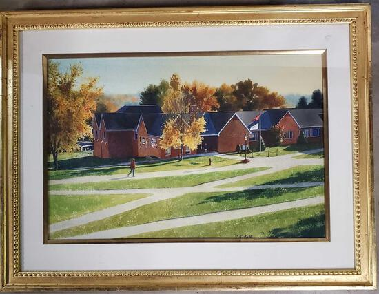 "Kathleen Kolb Watercolor 1997 ""Mr And Mrs Chapman S. Root Academic Center"""