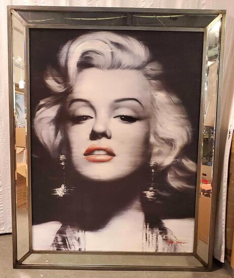 Ivan Gasteu Large Framed Marilyn Monroe Portrait