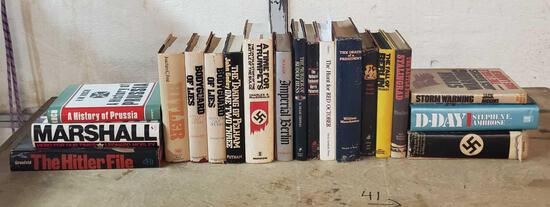 Lot Of 19 Hitler & Germany WWII Reladed, Book Club Edition
