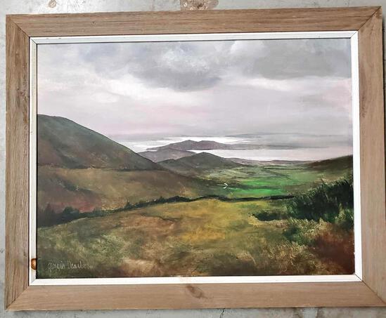 Georgia Dearborn (Born 1952) Oil On Board Landscape