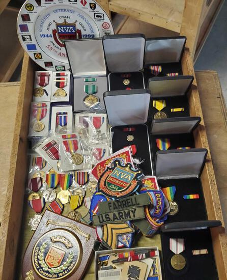 Case Lot Of WWII Military Collection US Army Berlin 1940-60s