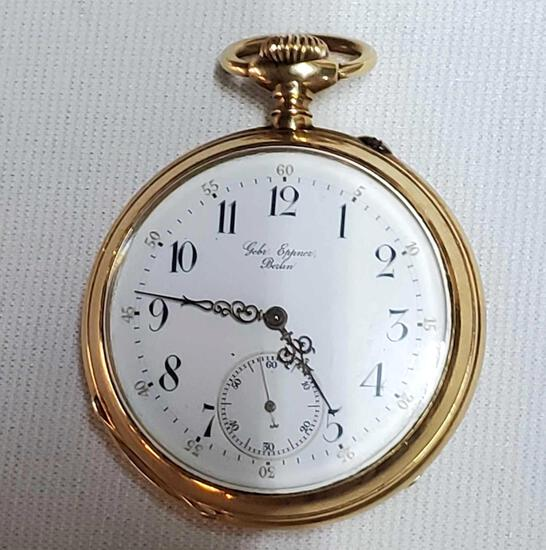 14K Gebr. Eppner Pocket Watch Gift From Kaiser Wilhelm II Of Prussia To Exsecutive of F W Woolworth