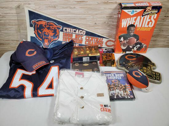 Collection of Chicago Bears NFL Collectibles & Gear